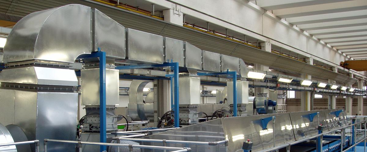 Impianti di termoventilazione industriale
